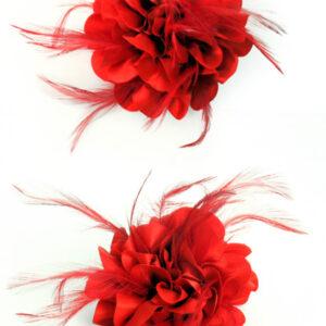 Brosche Blume rot