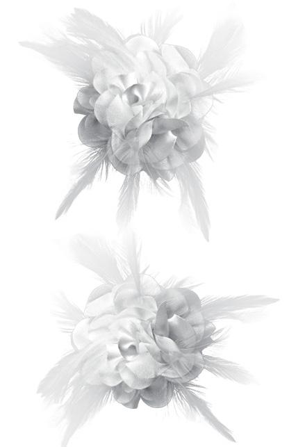 Haarspange Blume weiß