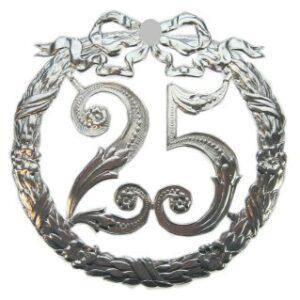 Jubiläumskranz 25 Jahre Silberhochzeit  25 cm Ø