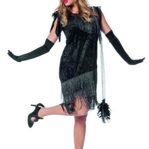 Charlestonkleid Luxus schwarz  Gr.42