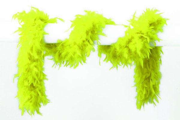Federboa neon-gelb 65 g 1,80 m