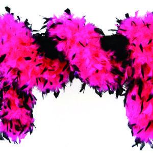 Federboa Luxus schwarz-pink 1,80 m