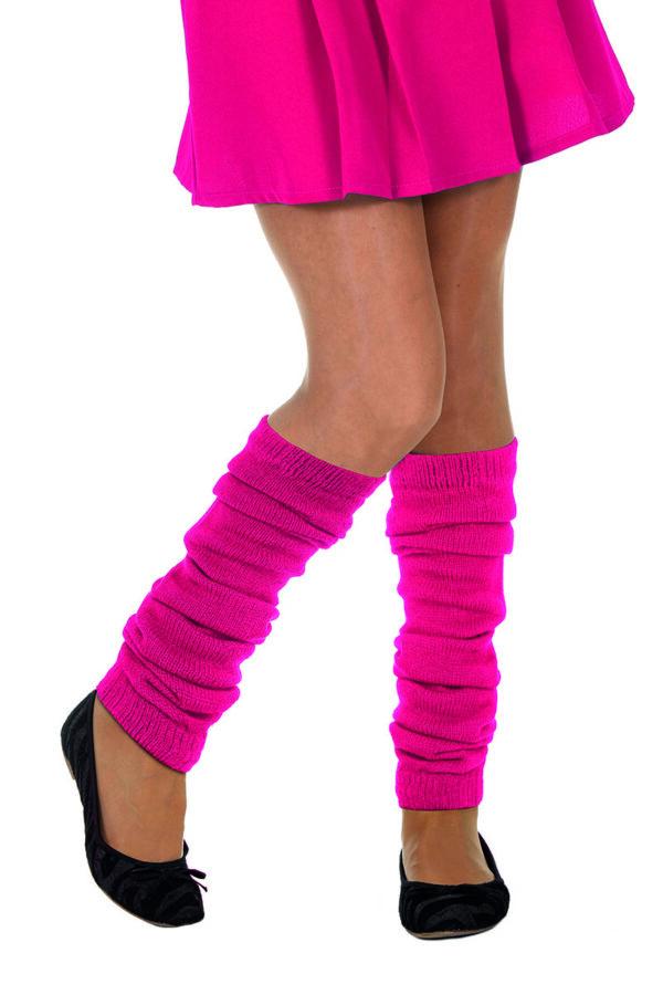 Beinwärmer, uni neon-pink