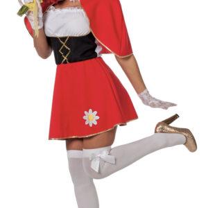 Kleid mit Umhang rot Gr.42