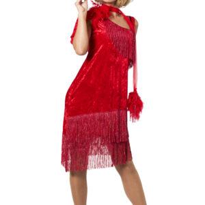 Charlestonkleid Luxus rot Gr.40