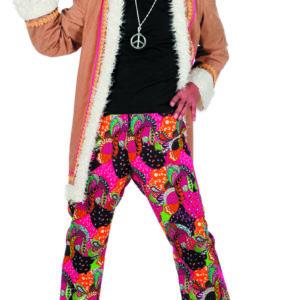 Hippie mit langen Mantel Gr.52