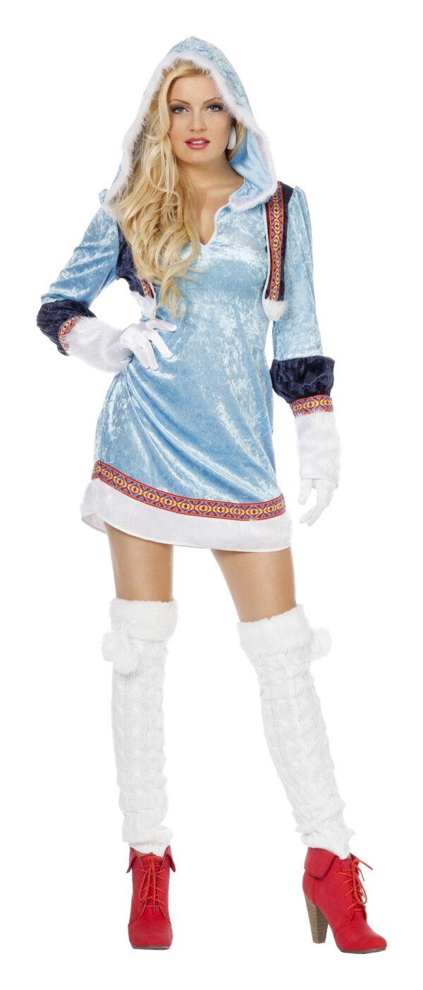 Damenkostüm Eskimo blau Gr.34