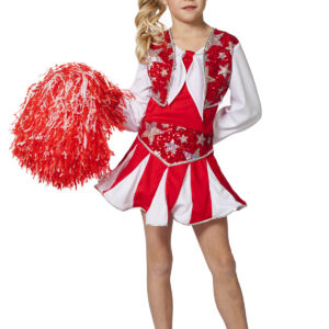 Kinderkostüm Cheerleader rot Gr.164