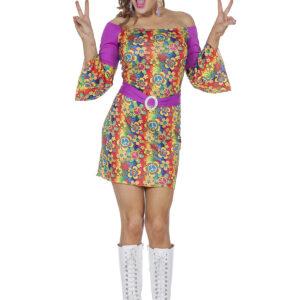 Damenkostüm Hippie 3teilig Gr.44