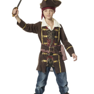 Kinderkostüm Pirat 3teilig braun Gr.140