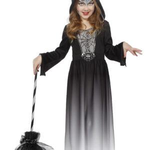 Kinder Halloweenkleid mit Kapuze 116/128