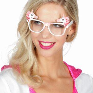 Brille Einhorn rosa
