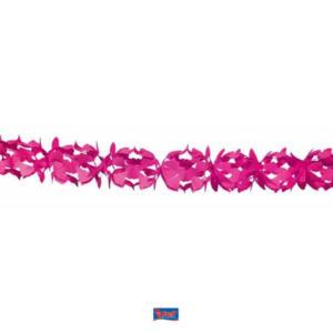 Girlande Papier rosa 6m