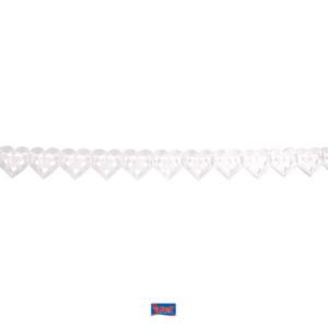 Girlande Papier Herz weiß 6m