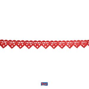 Girlande Papier Herz rot 6m