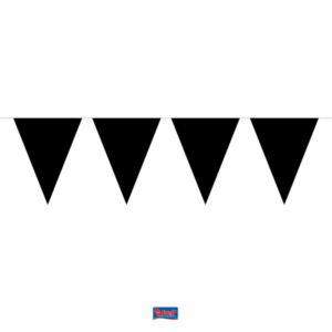 Wimpelkette schwarz 10m