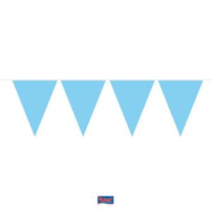 Wimpelkette hellblau 10m