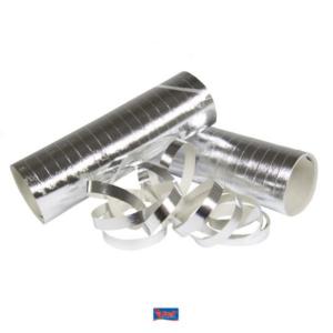 Luftschlangen metallic-silber 3Stk