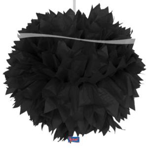 Pompom schwarz 30cm
