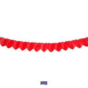 Girlande Mini Papier Herz rot 2m
