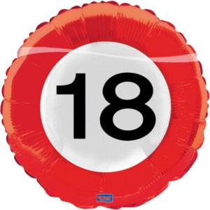 Folienballon18 Verkehrsschild 43cm