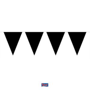Wimpelkette Mini schwarz 3m