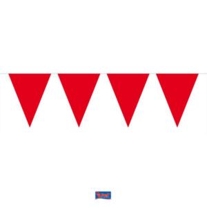 Wimpelkette Mini rot 3m