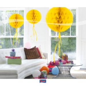 Honigwaben Ball gelb 30cm