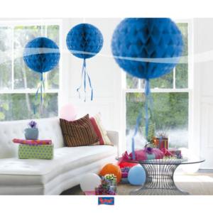 Honigwaben Ball blau 30cm