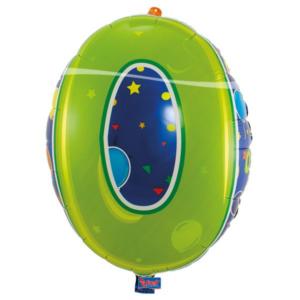Folienballon Nummer 0 bunt 56cm