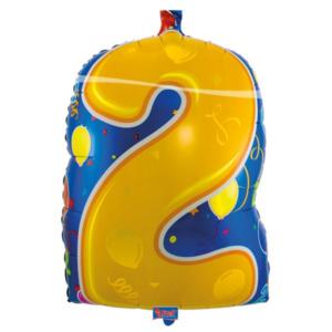 Folienballon Nummer 2 bunt 56cm