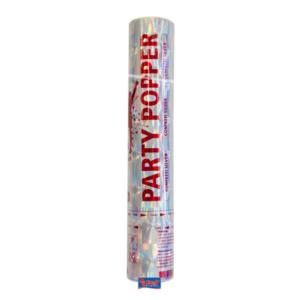 Konfetti Party Popper silber 28cm