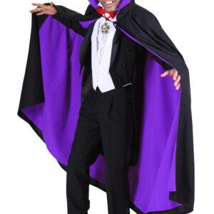 Umhang Dracula schwarz-lila