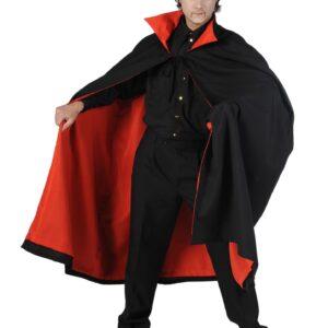 Umhang Dracula schwarz-rot