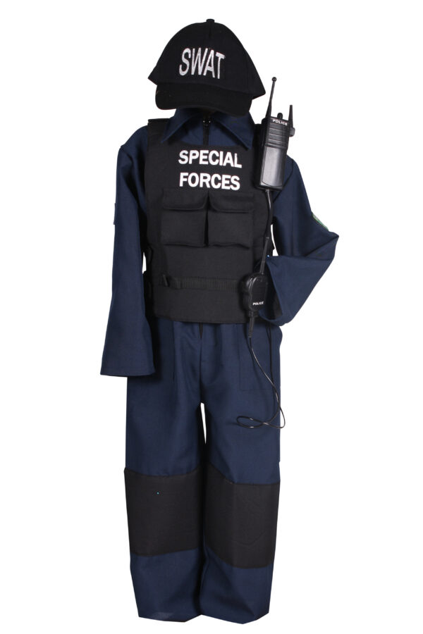 Kinderkostüm SWAT-Anzug Gr. 152