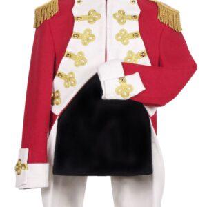 Mantel Gardeoffizier de Luxe rot-beige Gr. S
