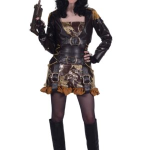 Damenkostüm Steampunk Princess Callie braun-gold Gr. S