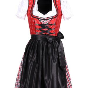 Dirndl Sarah rot-schwarz Gr.44