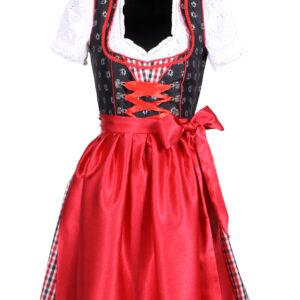 Dirndl Sarah schwarz-rot Gr.44