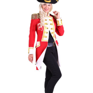 Damenjacke Gardeoffizier rot-weiß Gr. L