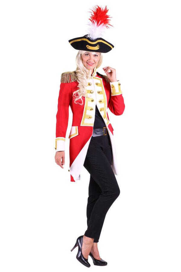 Damenjacke Gardeoffizier rot-weiß Gr. 3XL