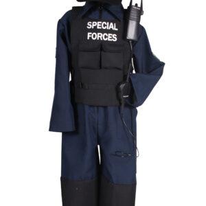 Kinderkostüm SWAT-Anzug Gr. 128