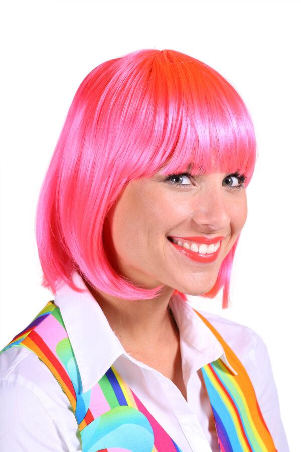 Perücke Lola pink
