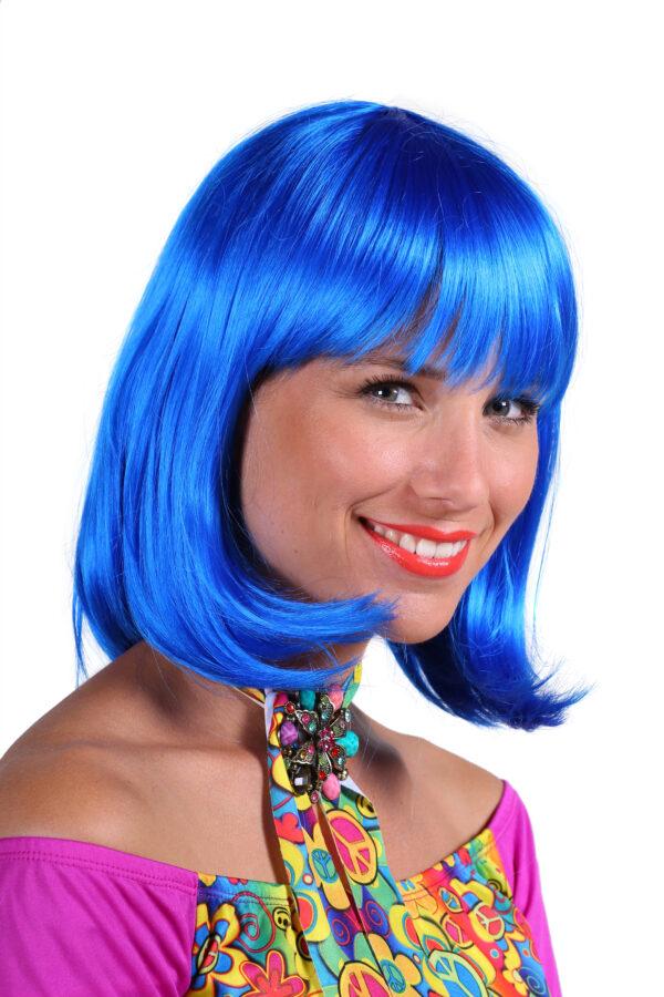 Perücke de Luxe Samantha blau