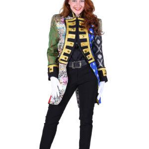 Damen Admiralsjacke Patchwork Gr.L