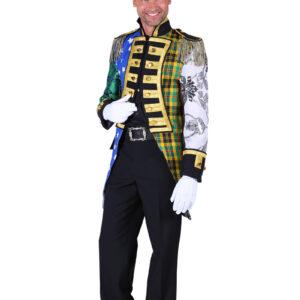 Herren Admiralsjacke Patchwork Gr.S