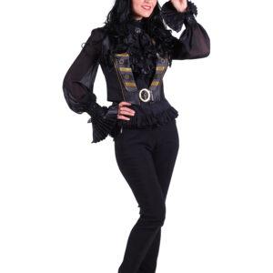 Damenweste Steampunk Scarlett schwarz Gr. XXL