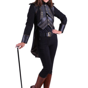 Damenjacke Steampunk Eulalia schwarz Gr. S