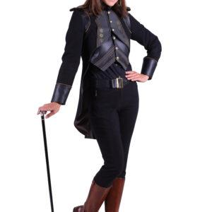 Damenjacke Steampunk Eulalia schwarz Gr. XS