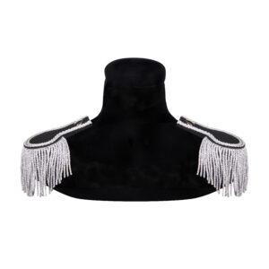 Schulterstücke silber-schwarz